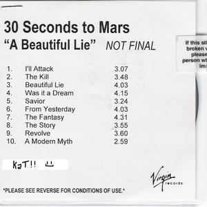 A Beautiful Lie (Unmastered Advance)