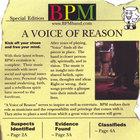 Bpm - A Voice of Reason