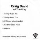 Craig David - All The Way (CDS)