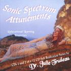 Dr. Julie Trudeau - 2 cd SET / cd 1: SPOKEN WORD synopsis / THE SONIC SPECTRUM ATTUNEMENTS 12 part self help series - cd 2: solo instrumental+drums