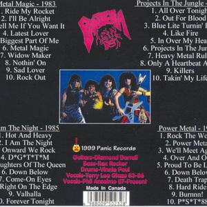 PayPlay FM - Pantera - The Metal Magic Years 4 CD Set CD1