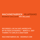 Machinefabriek - Klapband