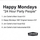 24 Hour Party People (Jon Carter Remixes) (CDR)